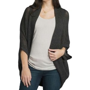 Prana Lima Cardigan Sweater Charcoal Greg Size XL